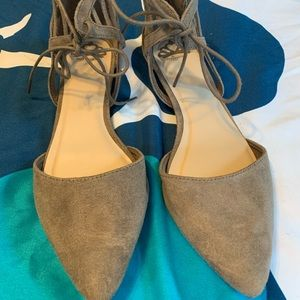 Fergalicious suede tie zip up shoes. Size 9. New